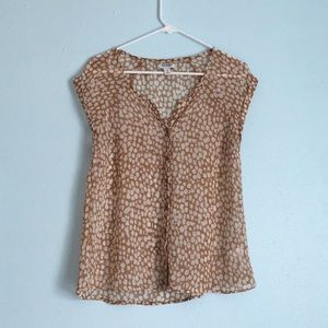 Old Navy Button Down Printed Blouse
